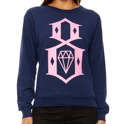 REBEL8 Girl Sweater LOGO navy/pink