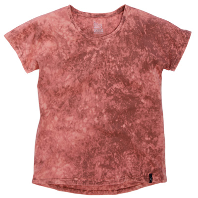 CLEPTOMANICX Girl Shirt MARBLE dusty red