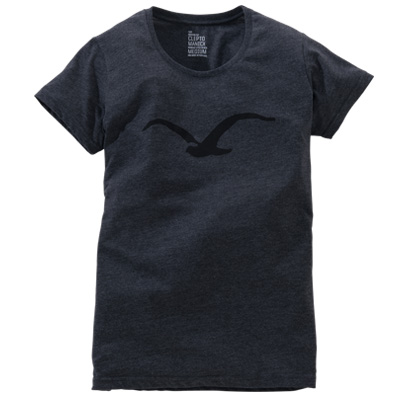 CLEPTOMANICX Girl Shirt MÖWE heather black/black