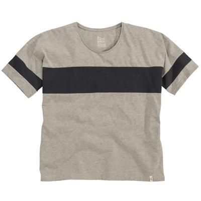 CLEPTOMANICX Girl Shirt STRUCTURE heather grey