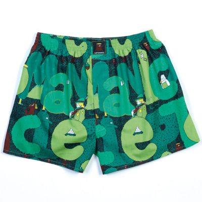 CLEPTOMANICX Boxershorts WOODS green