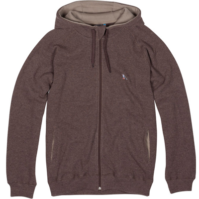 CLEPTOMANICX Hooded Zipper WOOZER moor