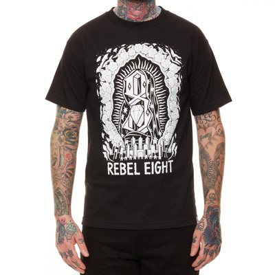 REBEL8 T-Shirt WORSHIP WORTHY black