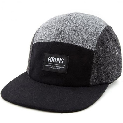 WRUNG 5Panel Cap CLASSIQUE grey/black
