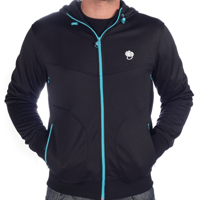 WRUNG Hooded Track Jacket AVENGER black