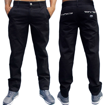 WRUNG Chino Pants ETHNIC black