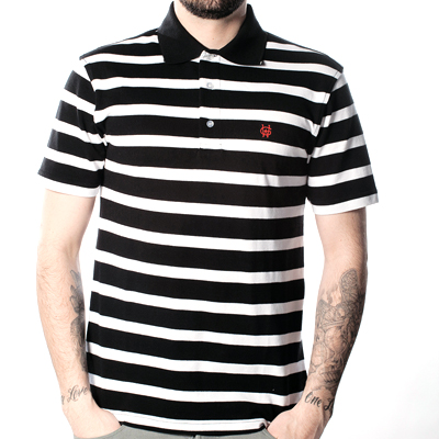 WRUNG Polo Shirt BATTLE black