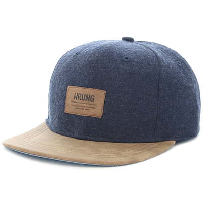 WRUNG Snap Back Cap LAB blue/leather