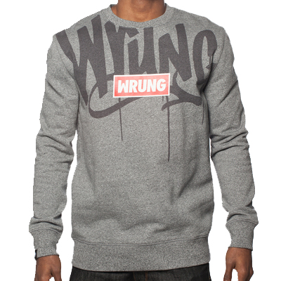 WRUNG Sweater NAME BOX grey