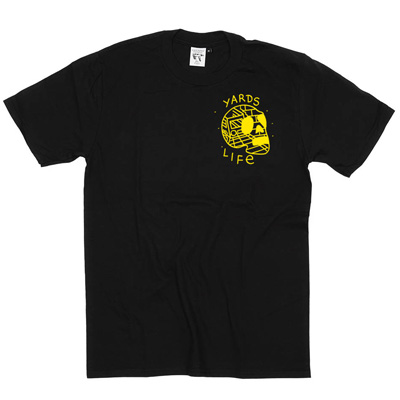 IGNORANT PEOPLE T-Shirt YARD LIFE black/yellow