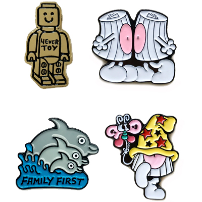 YUBIA & POLFISH Pins 4er Pack