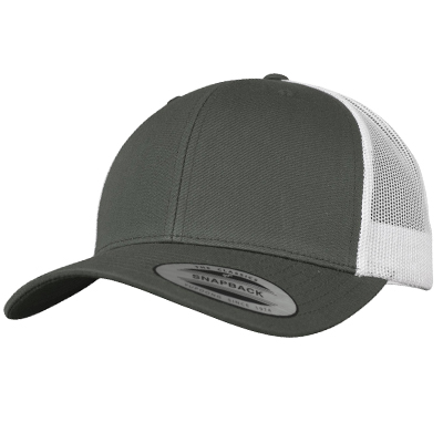 YUPOONG Retro Trucker Cap dark grey/white