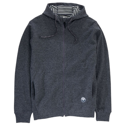 CLEPTOMANICX Hooded Zipper WOOZER 3 heather dark grey